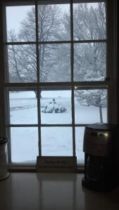 inside kitchen window coffee maker
